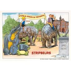 Ex-libris Walter Laureysens Stripbeurs Tervuren 2015